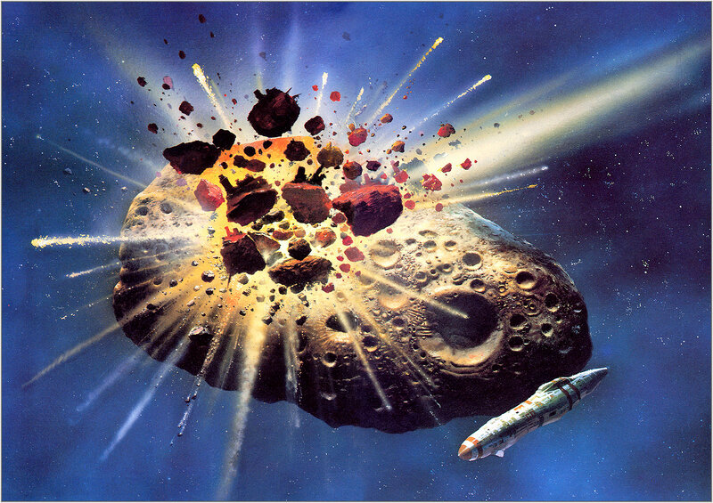 Крис Фосс. Chris Foss Asteroid Collision.jpg