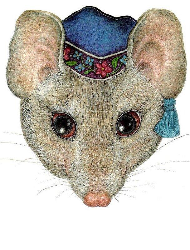 Маска крысы из бумаги