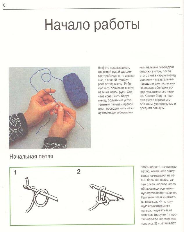 вязание крючком уроки для начинающих.