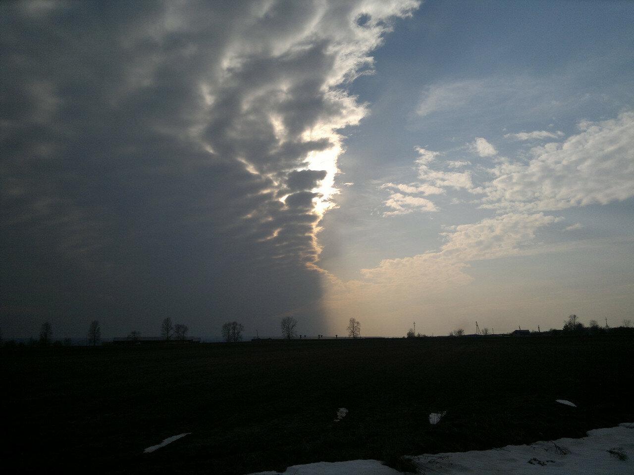 граница облачности