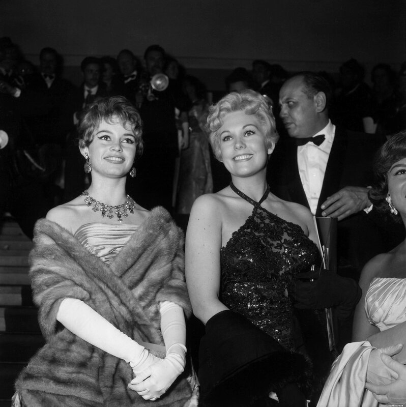 Brigitte Bardot et Kim Novak au festival de Cannes de 1956