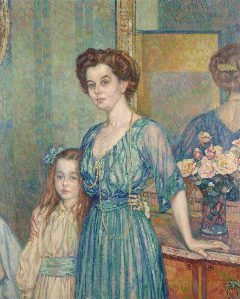 Theo van Rysselberghe - Mme Bodenhausen with a Child, 1910.jpeg