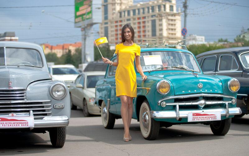 105-и летие московского такси. Случайно попал на акцию.