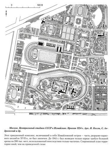 Центральный стадион СССР в Измайлове в Москве, генеральный план