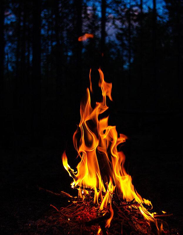 Огонь в ночи