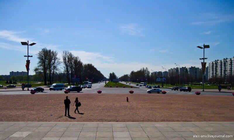 Пулковское шоссе, вид в сторону аэропорта.