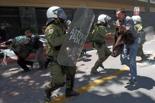 Clashes Errupt During General Strike