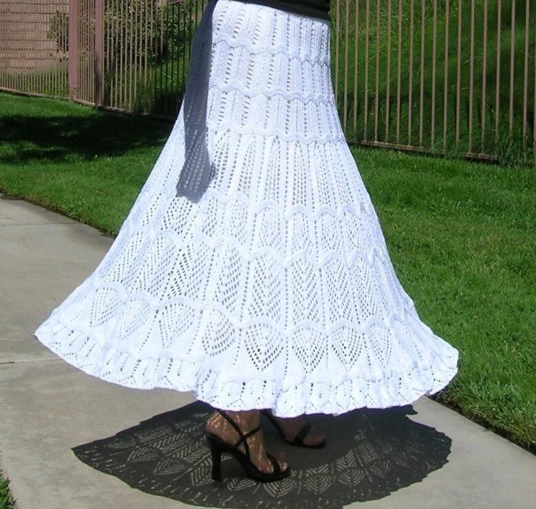 Вязание  летнее юбка