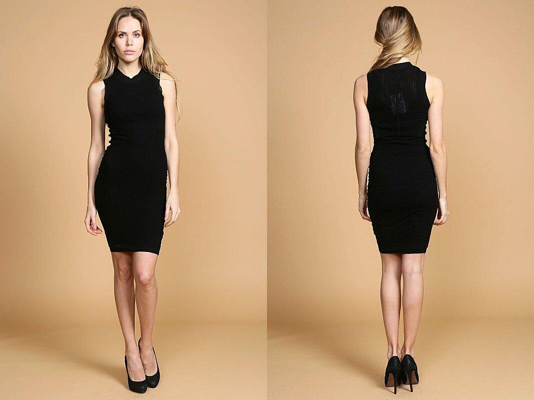Фото простых черных платьев