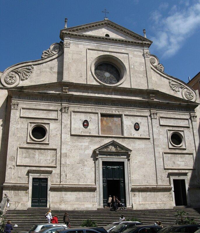 Рим. Церковь Святого Августина (Sant'Agostino, Сант-Агостино)