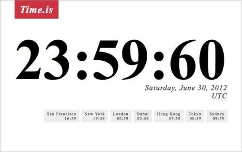 А вы в курсе что произойдет 30 июня в 23:59:60?