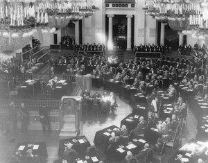 Заседание Государственного совета в зале Дворянского собрания. 1906 г.