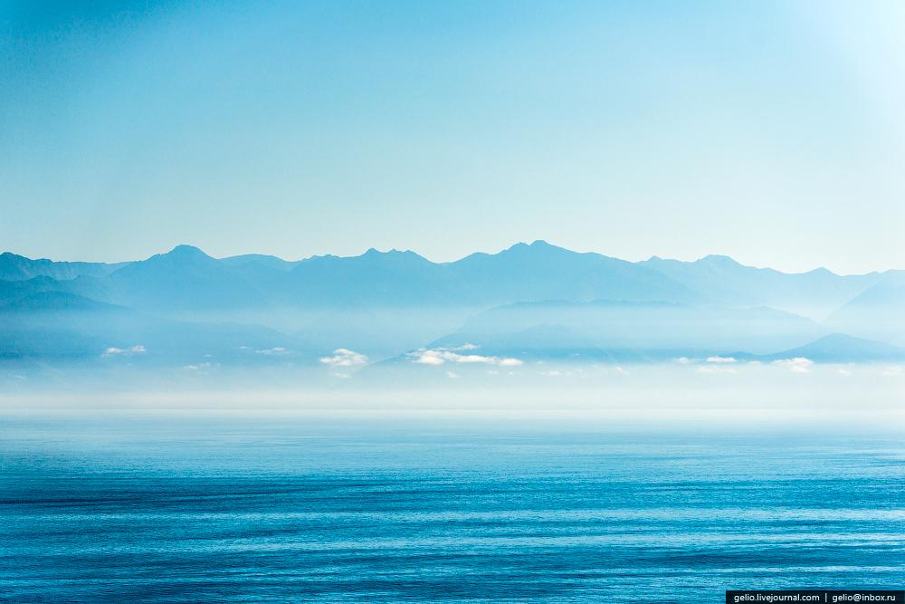 Озеро Байкал с высоты птичьего полёта