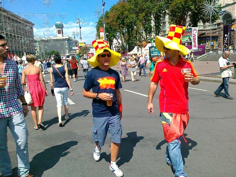 Испанские фаны в Киеве