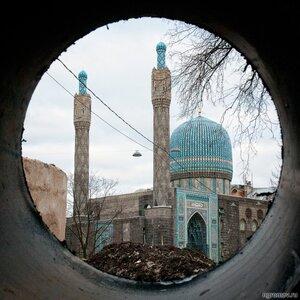Ремонт у Соборной мечети (круг, Петербург, ремонт, Соборная мечеть)