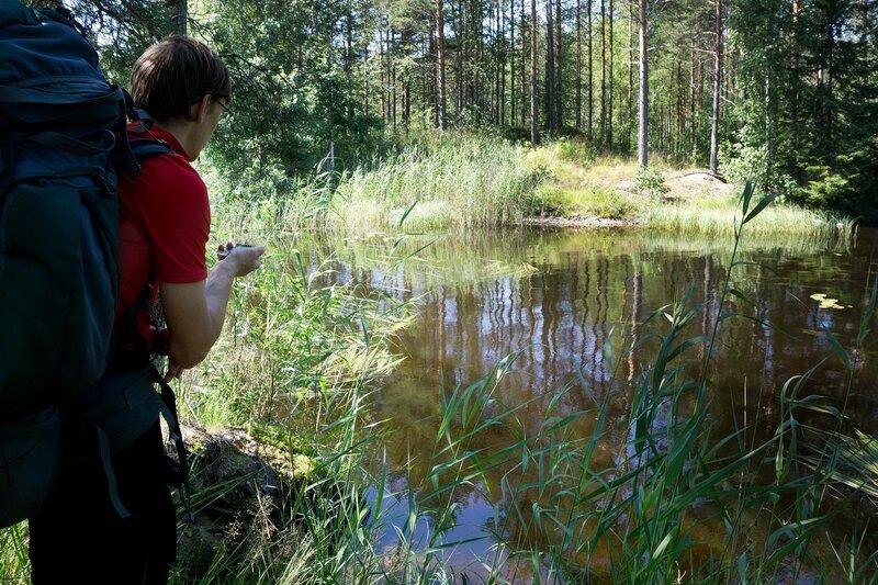 на заливе Hulkonlahti озера Илинен (Ylinen) сломан паром