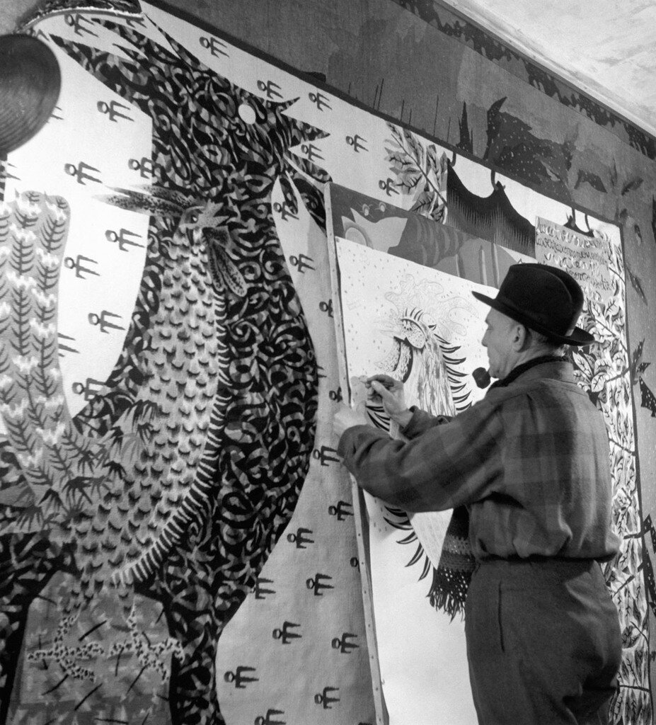 1945. Жан-Мари Огюст Люрса во время работы на Сен-Лорана