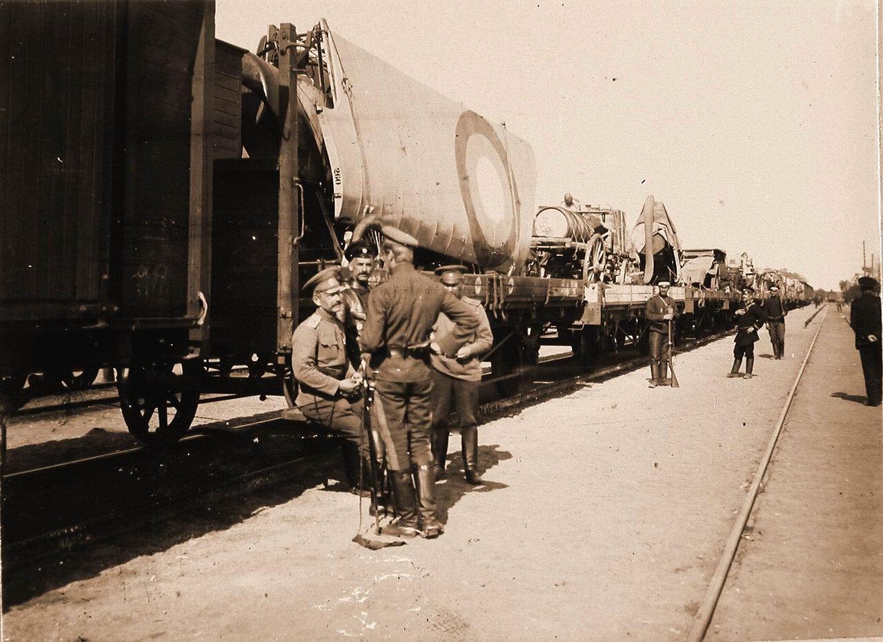 28. Авиаотряд на железнодорожной станции по пути из Радома в Красник. Май 1915