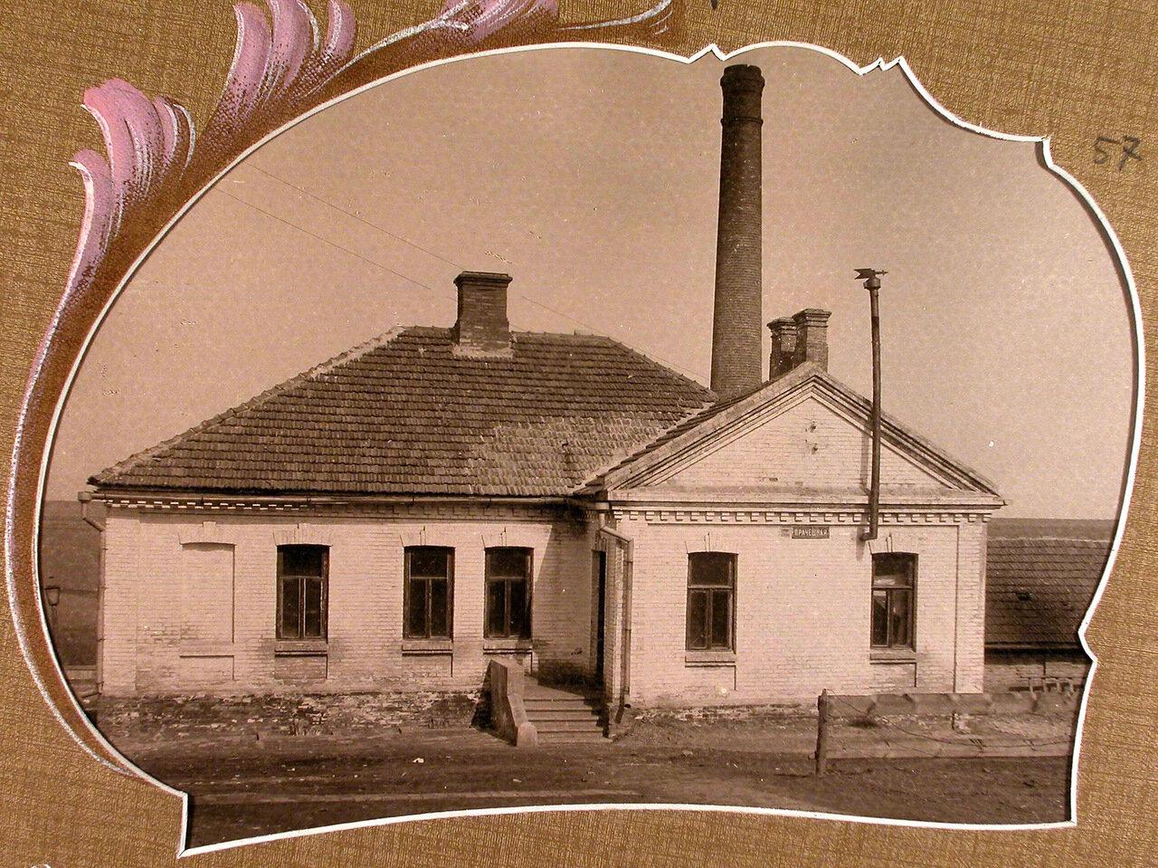 Вид дома, где размещались прачечная и баня
