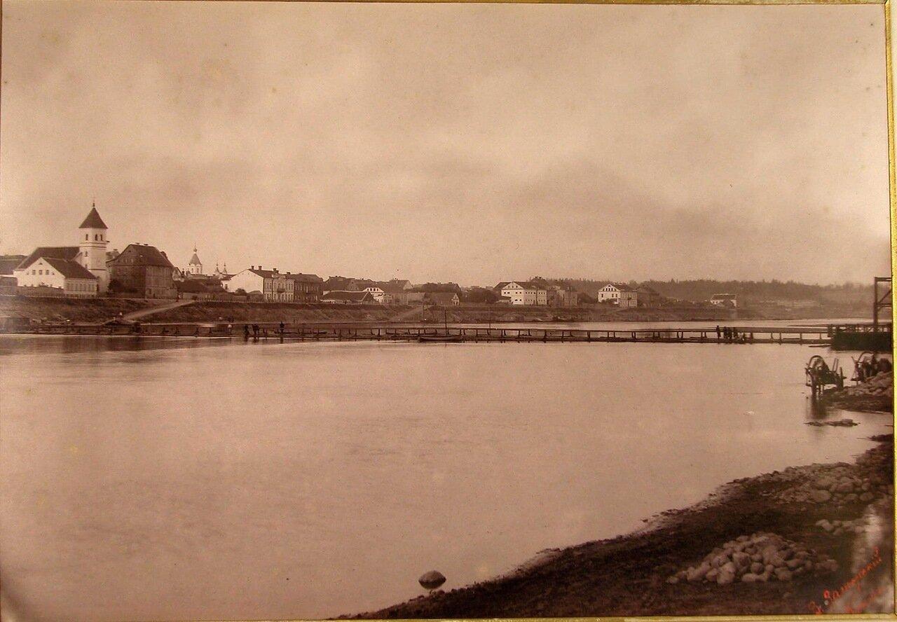 17. Вид моста через реку Неман и набережную