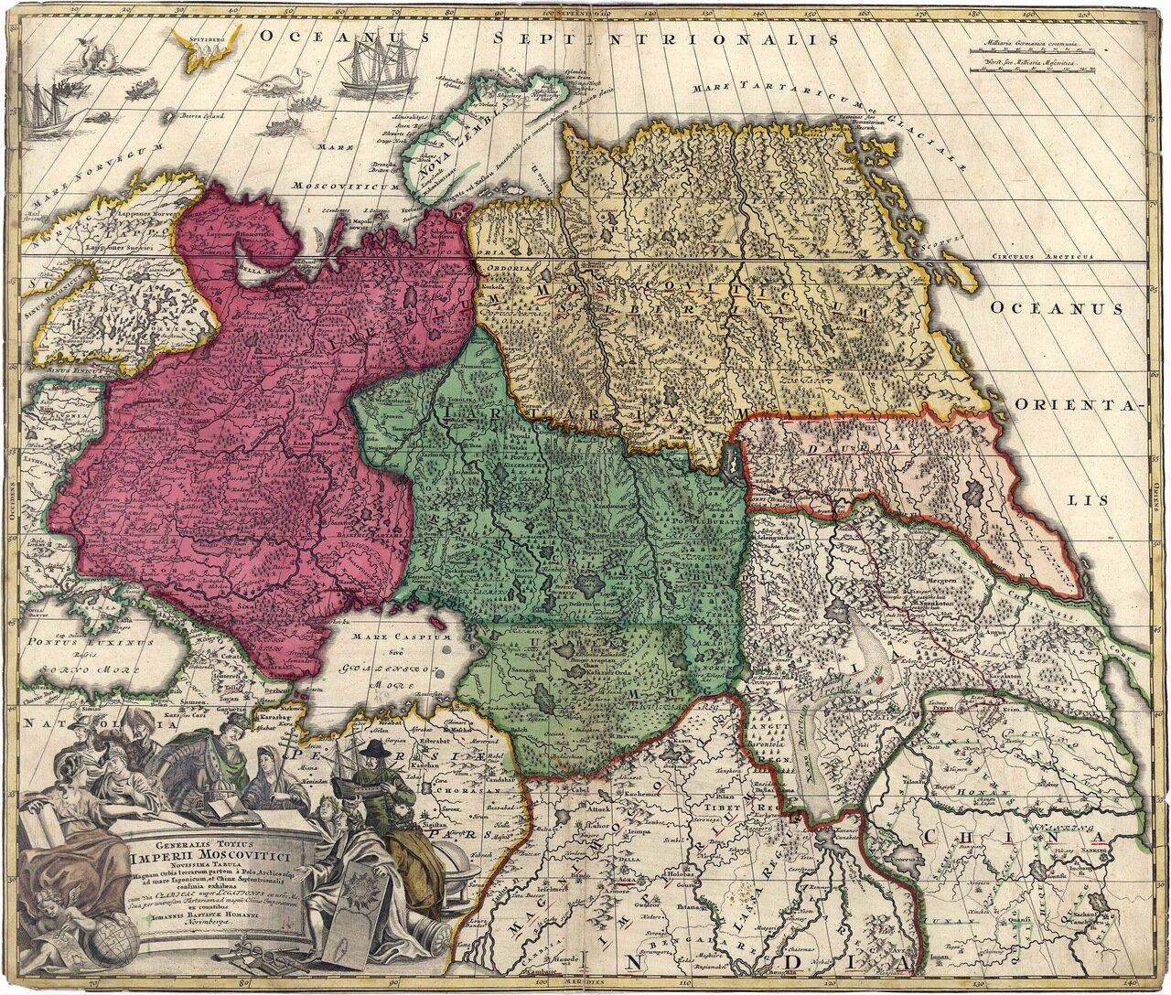 1704. И. Хоманн - Московская империя