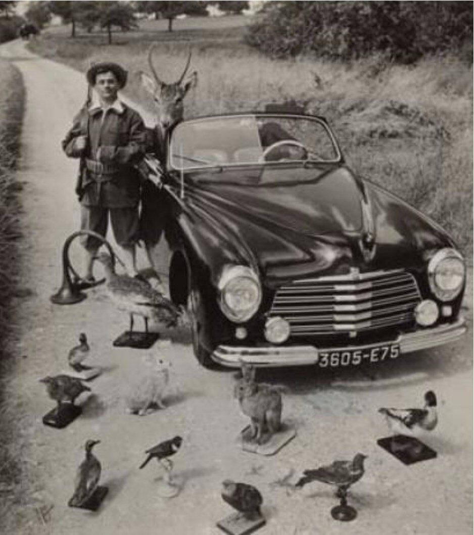1965. Морис Буке с охотничьими трофеями