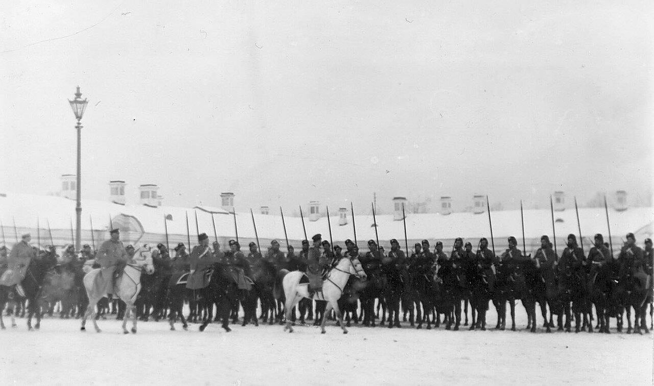 03. Отряд новобранцев на смотре. 1907