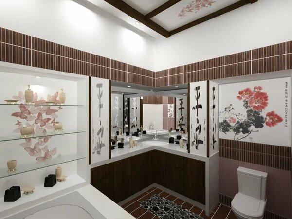 Кафельная плитка в дизайне ванной фото