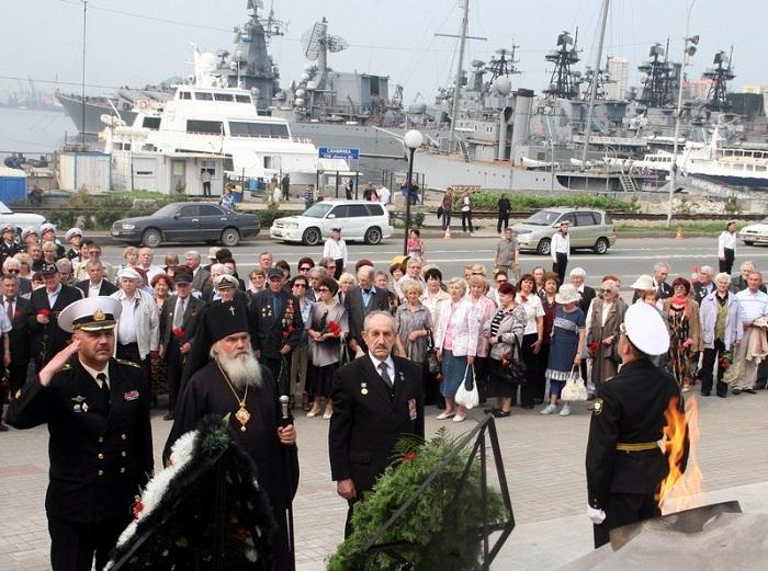 На Тихоокеанском флоте состоялись мероприятия, посвященные Дню памяти и скорби