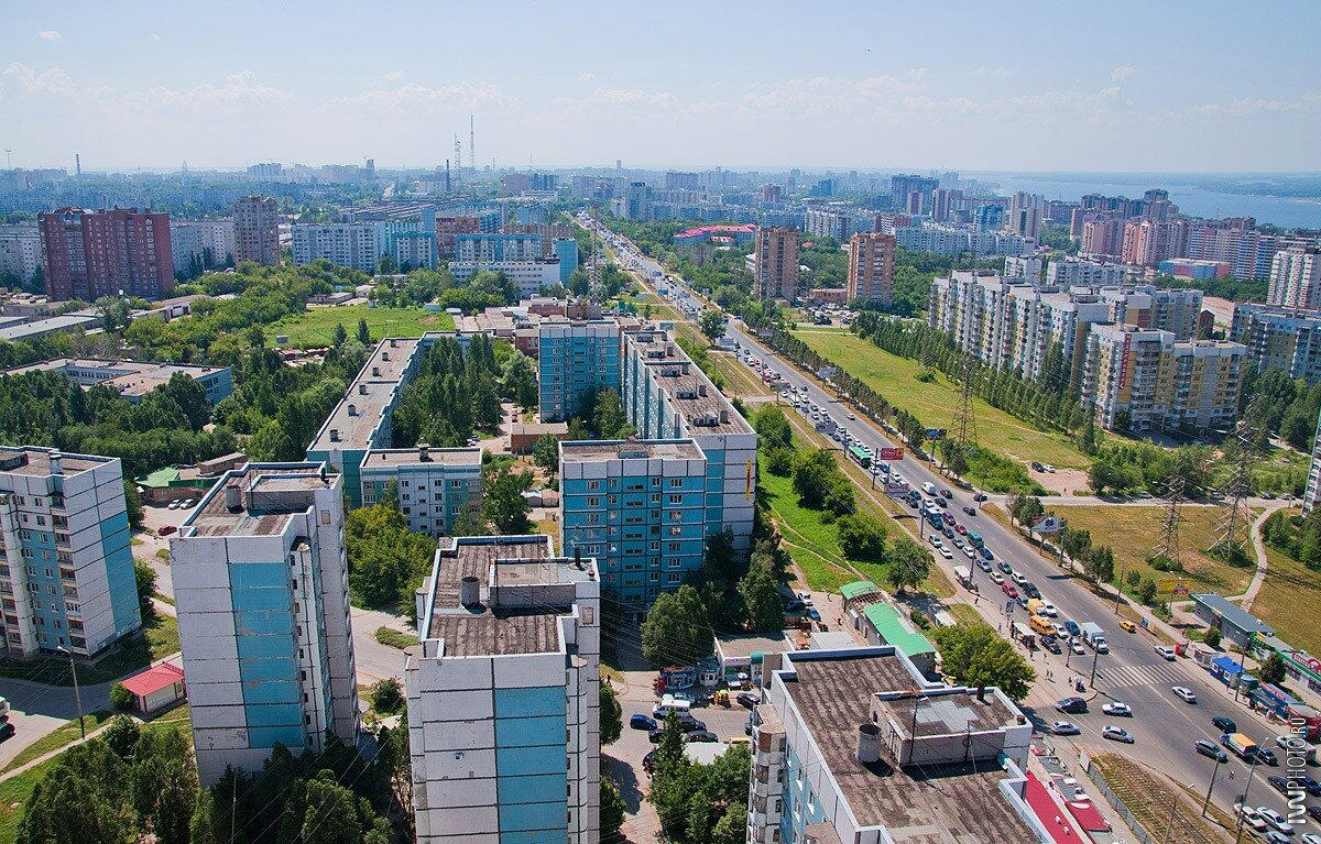 Самара, панорама вдоль Ново-Садовой