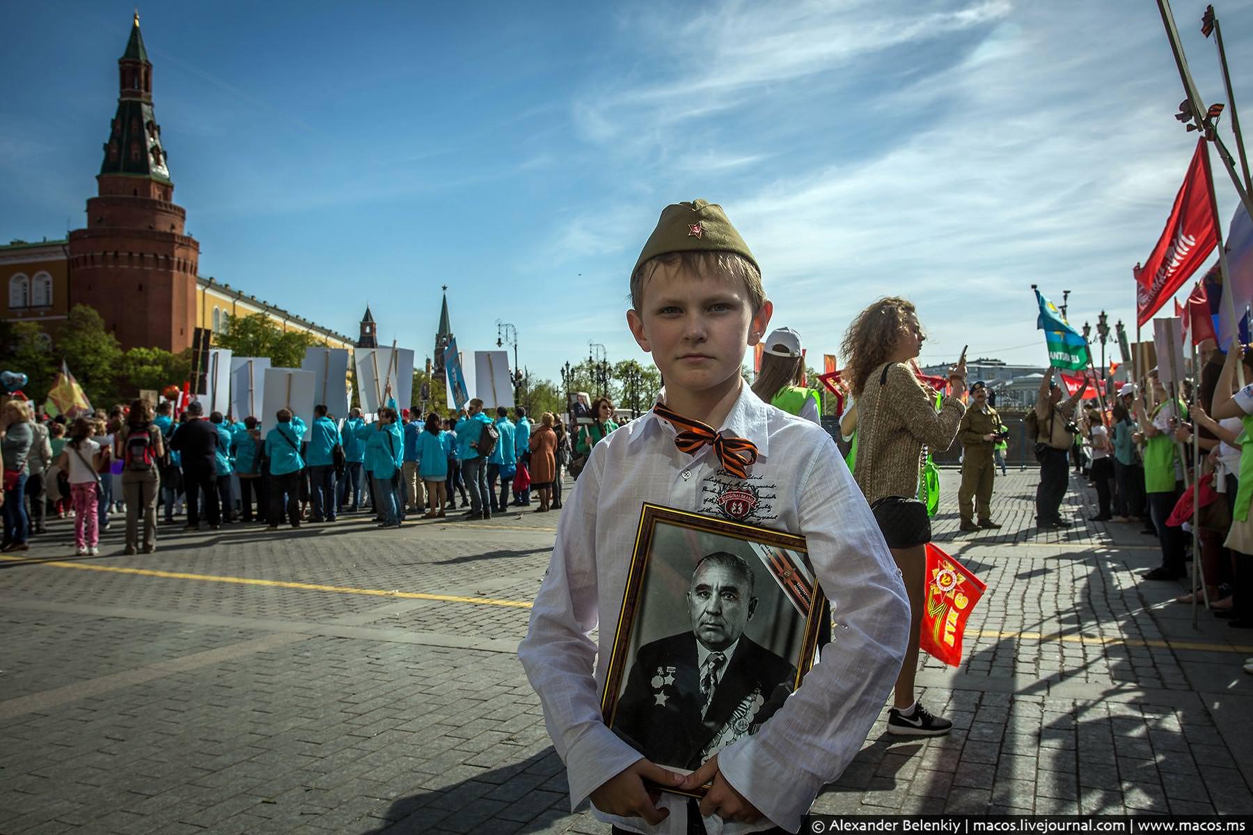 Вместе с дедом на Красную площадь