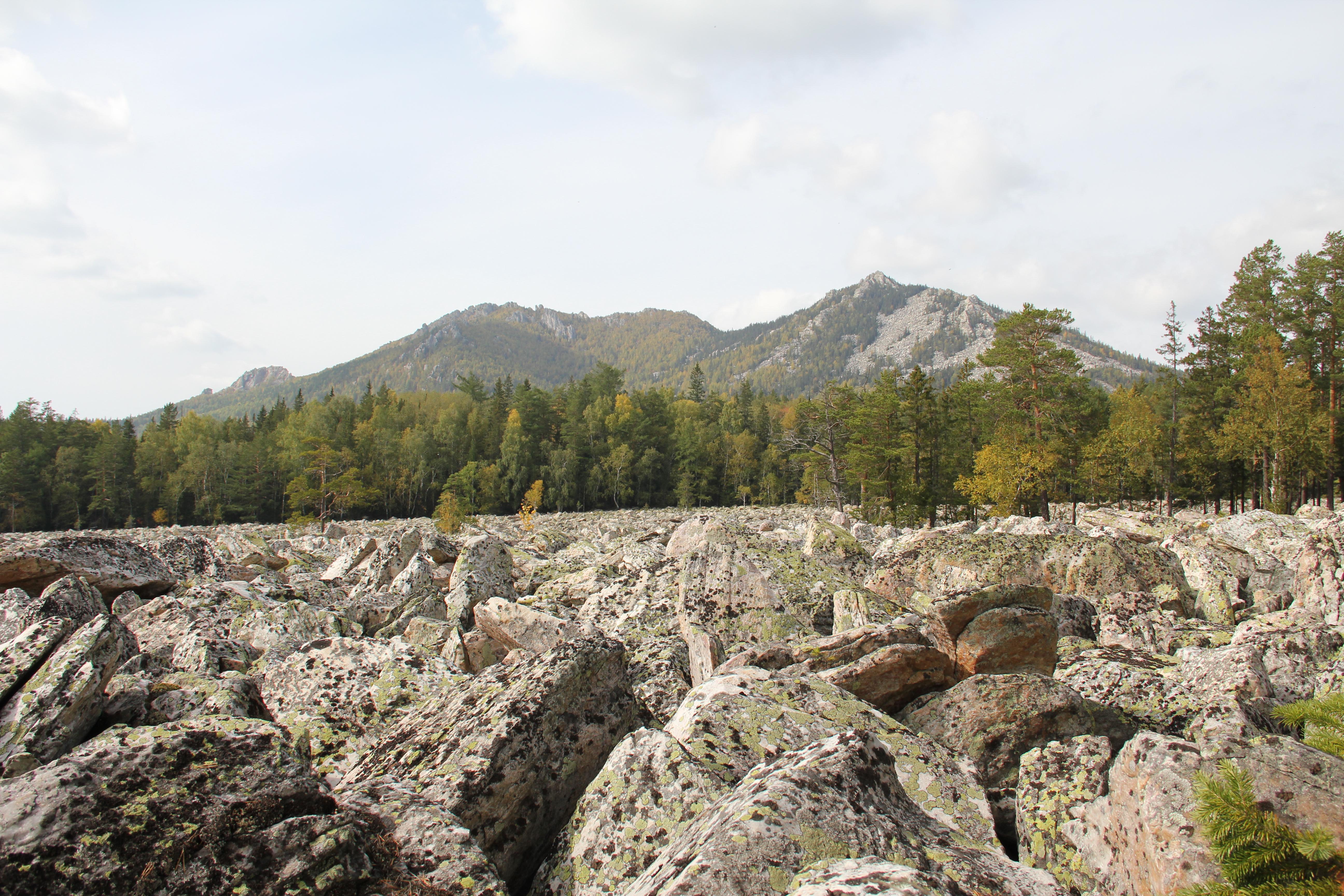 Двуглавая сопка над Каменной рекой (30.09.2014)