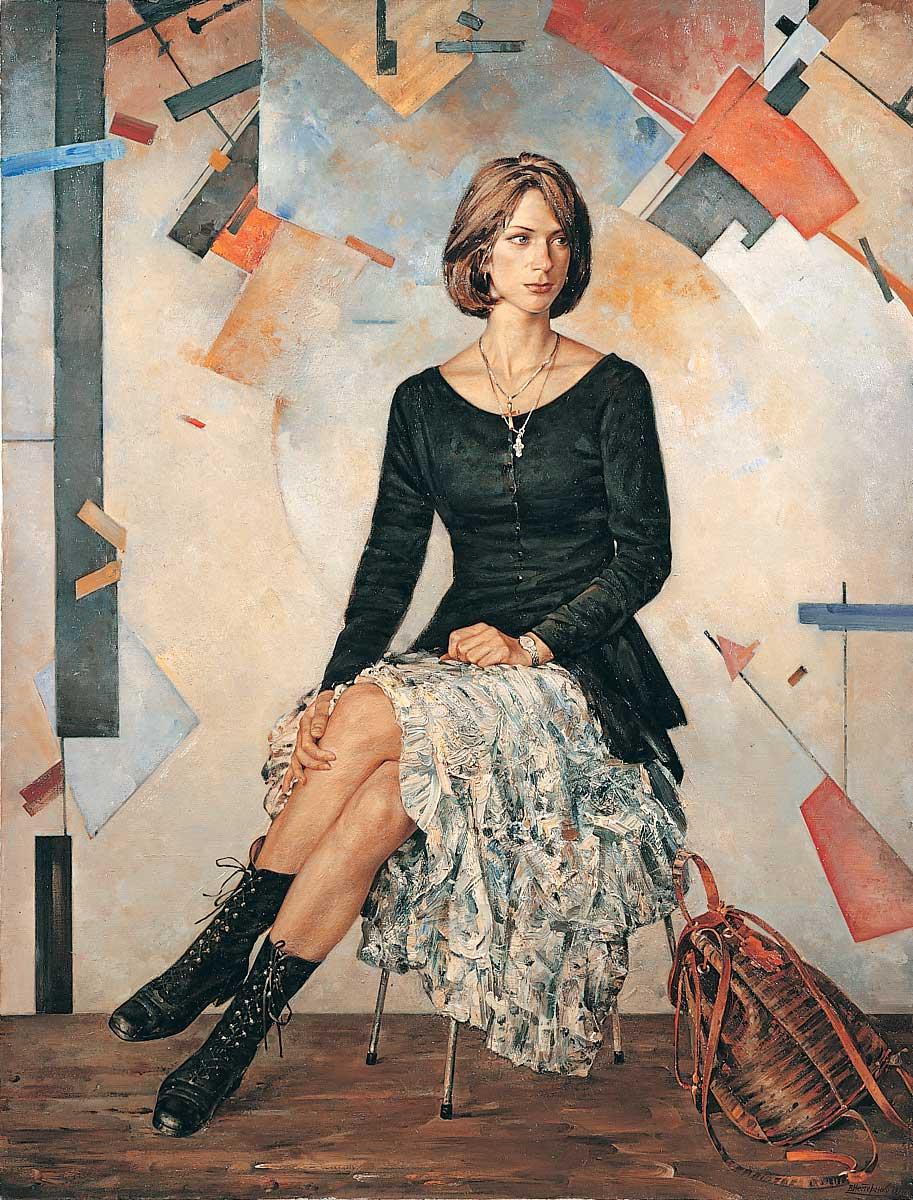 Женский портрет на фоне абстрактной ...: www.liveinternet.ru/users/4793546/post295825895