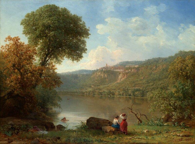 Lake Nemi, 1857