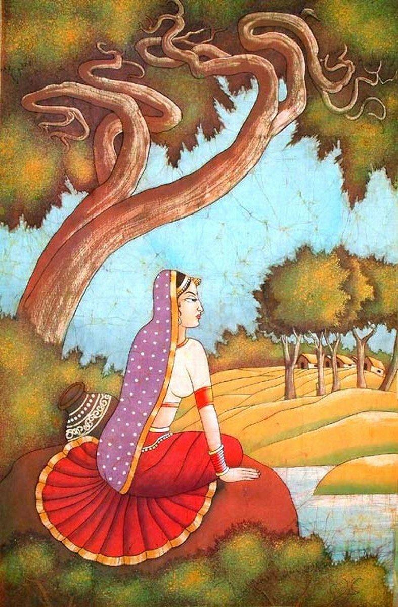 Гопи думает о Кришне (sohni awaits mahiwal)