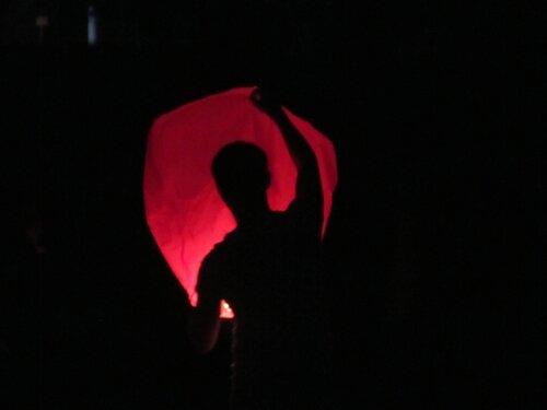 запуск фонариков