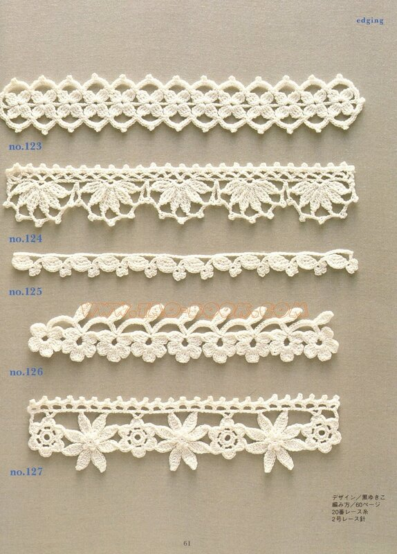 and craft books: motif & edging designs magazine, free crochet books ...