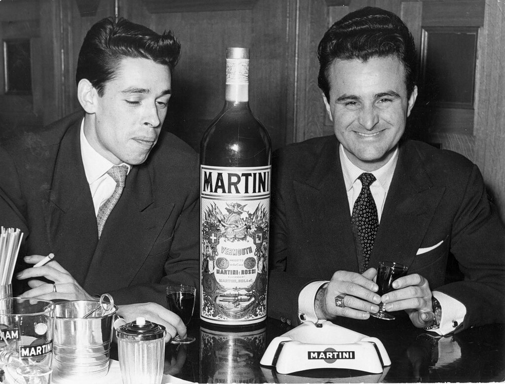 Jacques Brel with Bobbejaan Schoepen in 1955