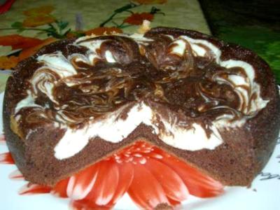Шоколадно-творожная запеканка