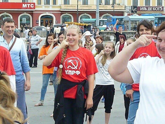 Зарядку делает Владивосток