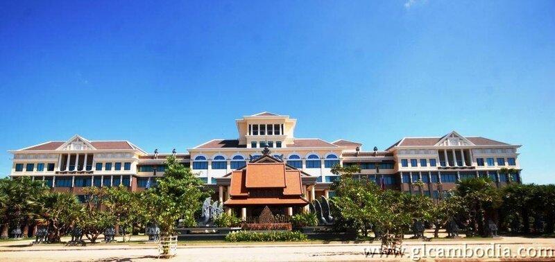 Hotel facade,deluxe room twin, PacificAngkor hotel