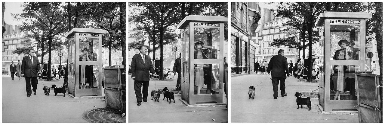 1958. Телефонная будка, бульвар Распай