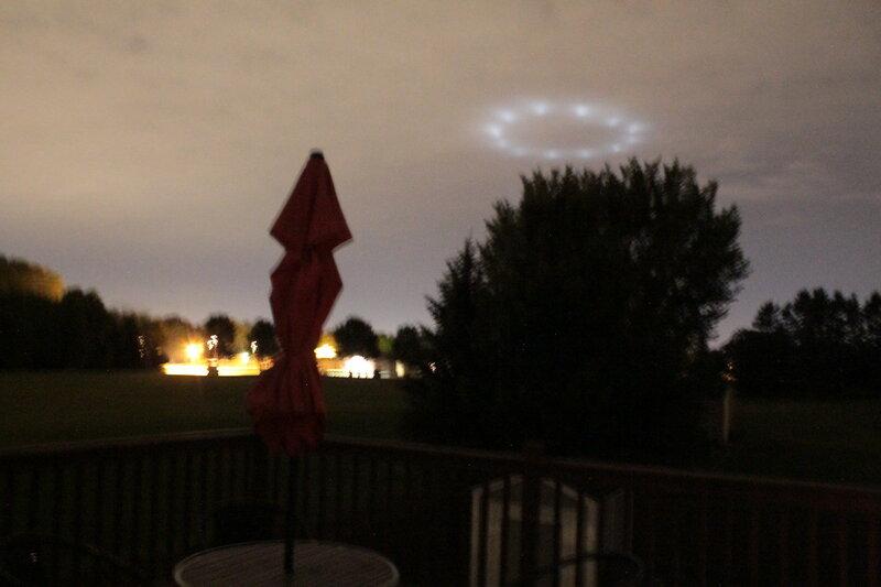 НЛО над Миннеаполис, штат Миннесота, США 9 августа 2015 года