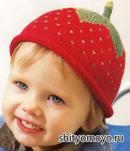 схемы вязания детских шапочек спицами.