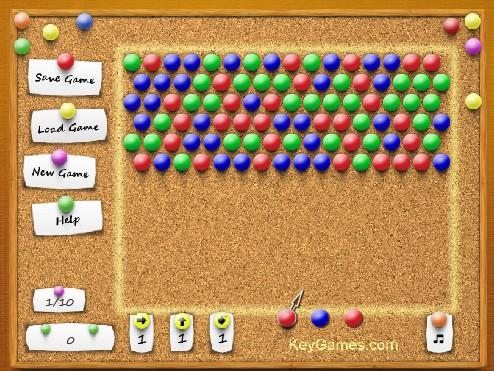 Игра сбить шарики