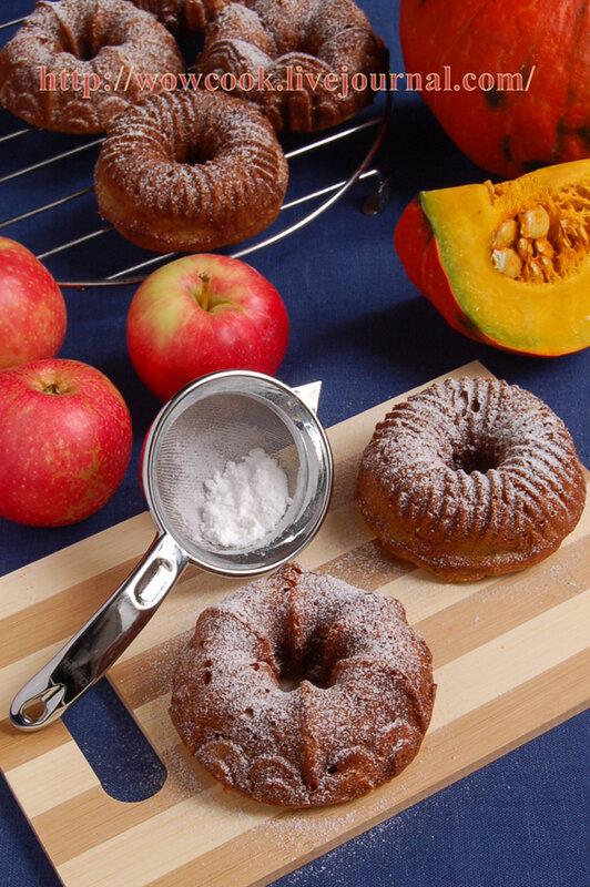 Кекс с тыквой и яблоками