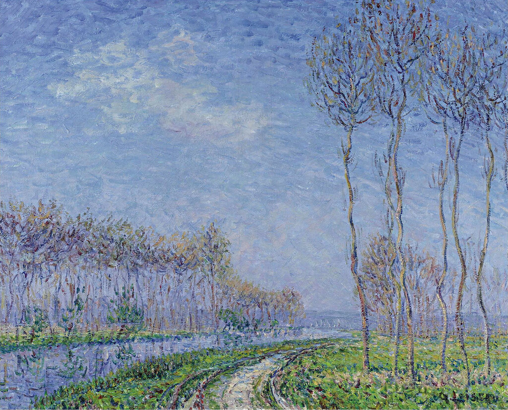 Gustave Loiseau - Trees on the Bank of the River, 1899.jpeg