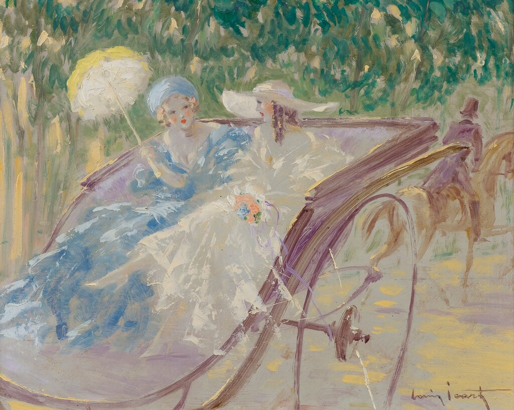 Louis Icart - Two Elegances at the Carriage.jpg