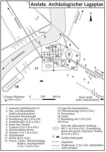 Арелат - Археологический план