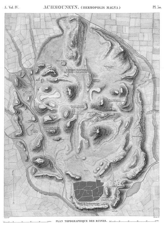 Герьмополис Магна, карта местности